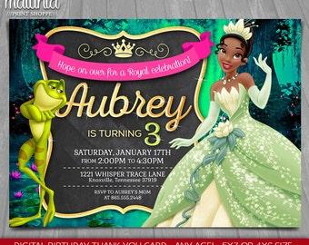 Princess and the Frog Invitation - Disney Princess Tiana Invite - The Princess and the Frog Birthday Invitation - Disney Princess Tiana