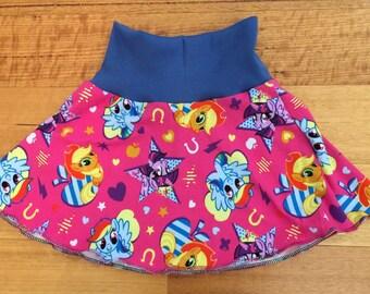 Handmade MLP fold waist skater skirt sizes 000-6