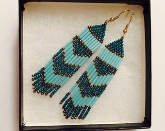 Maui Blue (Fringe Festival Earrings)