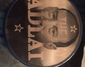 "Adlai Stevenson Flash Hologram Pin ""All The Way With Adlai"" Good condition. Flasher/Hologram"