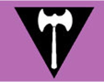 Lesbian Pride Ornament/Magnet