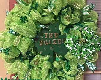 Large St.Patricks day wreath