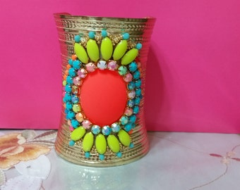 Colorful metal bracelet