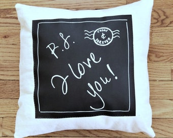 Throw Pillow, Chalkboard Pillow, Decorative Pillows, Valentine Pillow, Decorative Throw Pillows, Decorative Pillow Covers, Pillow with Words