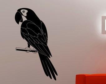 Parrot Wall Decal Bird Stickers Animal Animal Decorations Home Living Room Bedroom Decor Vinyl Art Waterproof Sticker 2epai