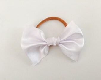 Fringe white bow