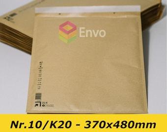 50 x Wholesale Bubble Mailers, Large Kraft Padded Envelopes 370X480mm Large Mailers K/20, Nr.:10 Wholesale Packaging