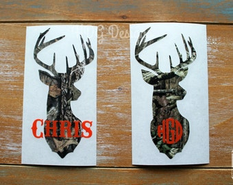 Deer Decal   Monogram Decal   Name Decal   Guy Decal   Camo Decal   Yeti