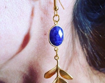 Sapphire earrings and jewelry designer Laurel