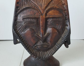 Antique Asian Mask Display Piece