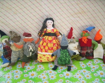 "Fairy tale dolls ""Snow white and the 7 dwarfs"""