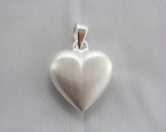 Valentines day sterling silver heart shaped pendant