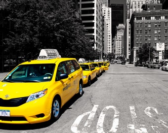 New York City Taxi Photography print, Black And White Prints, Urban Art Wall Decor, NYC Decor fine art print