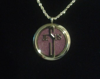 Jesus perfume locket