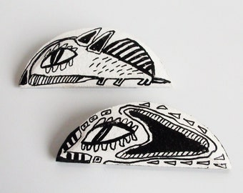 couple brooches