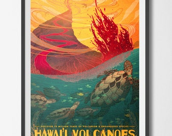 Hawai'i Volcanos National Park Poster
