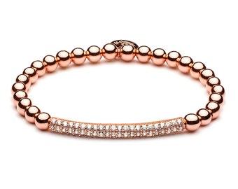 Bracelet • Le Pavé tube • Rosé gold