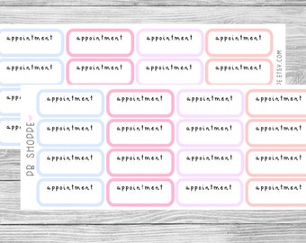 16 Pastel Appointment Stickers