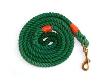 Cotton Dog Leash - Green