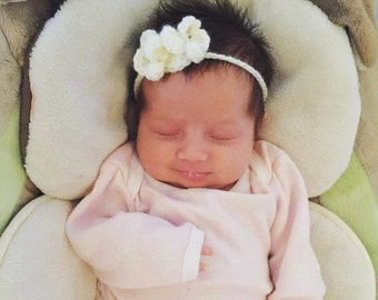 Simplistic baby girl headband with embellishment