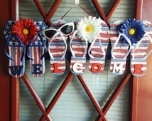 Popular Items For Flip Flop Wreath On Etsy