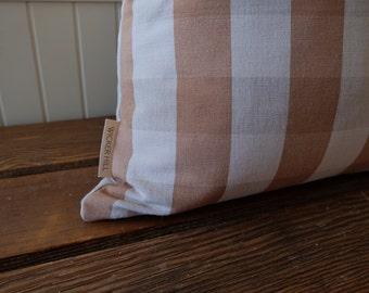 Tan Buffalo Check Pillow Cover