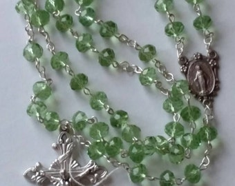 Light Green Crystal Rosary
