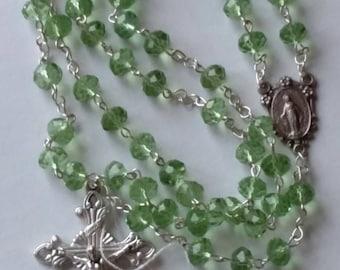 Light Green Crystal Rosary