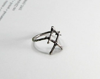 OTHALA rune ring - Sterling silver runes - The rune ring of The Ancestral Home