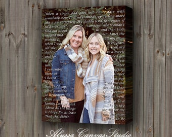Personalized Mother Gift, Wedding Mother Gift, Mother Canvas Lyrics, Vows to Canvas, Easter Gift for Mom, Mother Anniversary Gift to Canvas