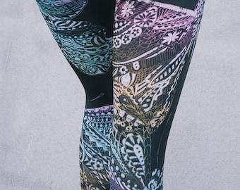 Leggings / Butterfly leggings / Yoga leggings / Art tights / Stretch pants / Custom design / IV124