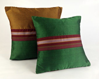Gift for Grandma | Unique Boho Gift | Boho Apartment Decor | Tribal Boho Pillow | Green Designer Pillow | Throw Pillow set