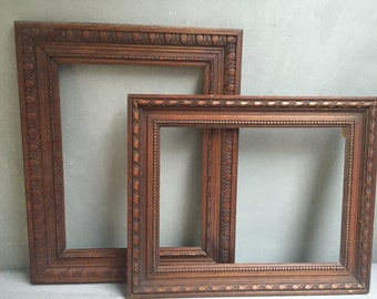 2 old wood frames