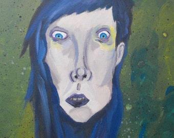 The Zombie (acrylic)