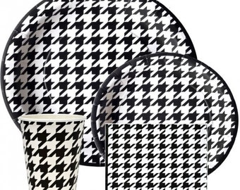 Houndstooth Party Kit for 8