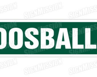 FOOSBALL Street Sign game room foos ball parts balls