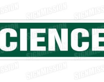 SCIENCE Street Sign chemistry biology teacher geek gift