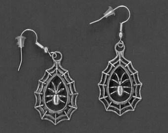 Handmade Spiderweb Earrings