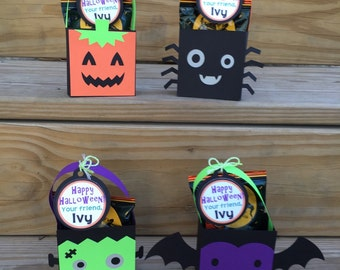 Personalized Halloween Treat Bags Assorted