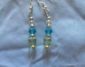 Tri-colored Earrings