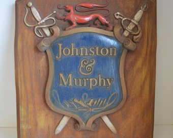 Johnston & Murphy, Vintage, Sign, Advertisment, Collectible.