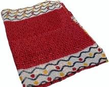 Vintage Kantha Quilt Sari Patchwork Kantha Ralli Cotton Kantha Beach Throw