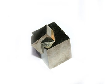 Pyrite Cube, Fools Gold, Twin Crystal Cluster