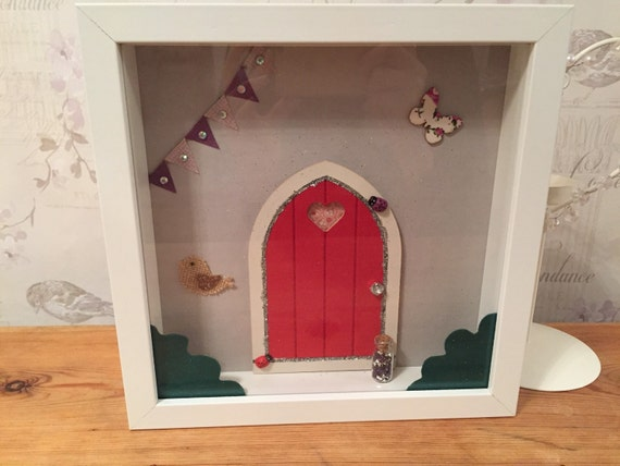 Items similar to handmade fairy door magical frame 3d with for Idea behind fairy doors