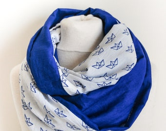 Snood double Tower blue Origami