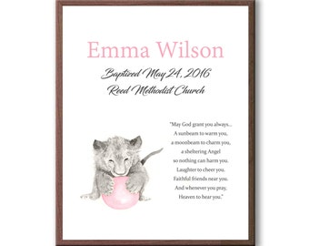 Christening Art For Baby, Art For Dedication, Lion Art For Kids, Baptism, Dedication