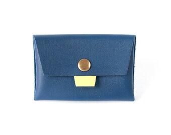 Marine blue wallet