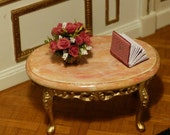 Coffee table of style LOUIS XV, 18th century - scale 1/12 - furniture, Doll House Miniature, living room, den, bedroom.