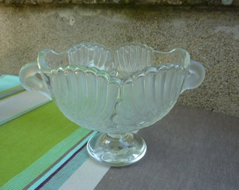 Cup Bowl Crystal frosted decoration of swans former french