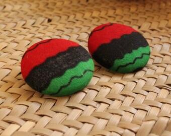Revolution button earrings